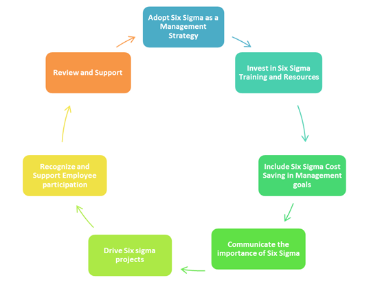 Figure 1: Role of Leadership in Six Sigma - Successful Adaptation of Six Sigma