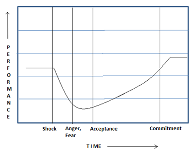 Figure 1: Stages experienced by employees during a Change Implementation process